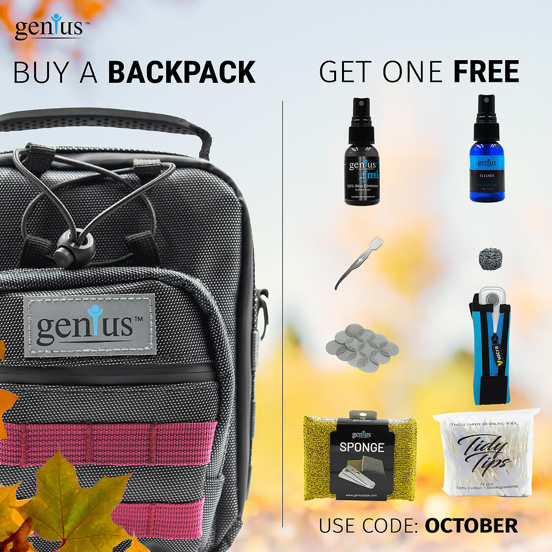 Buy A Genius Backpack And Get One Free Accessory